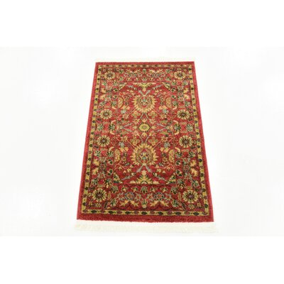 Willow Red Indoor Area Rug Rug Size: Rectangle 22 x 3