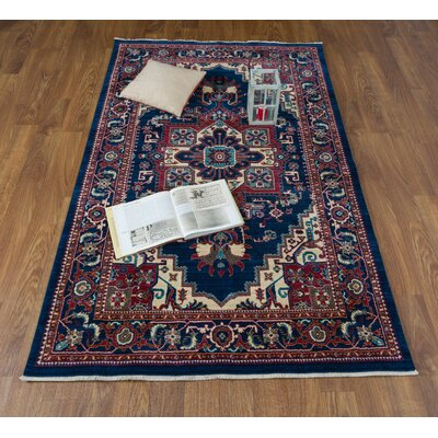Ridgeway Navy/Ivory Area Rug Rug Size: Rectangle 41 x 6