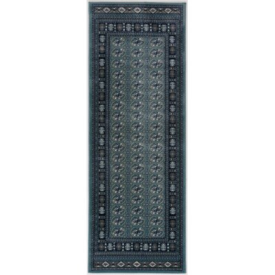 Caledonian Blue Area Rug Rug Size: Runner 27 x 76