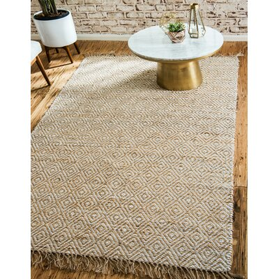 Deziree Hand-Braided Natural Area Rug Rug Size: Rectangle 2 x 3