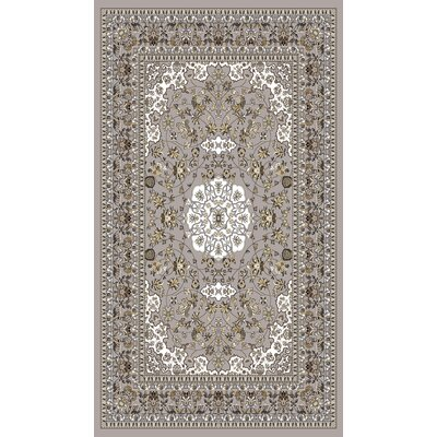 Bonsai Traditional Oriental Gray Area Rug Rug Size: Rectangle 54 x 75