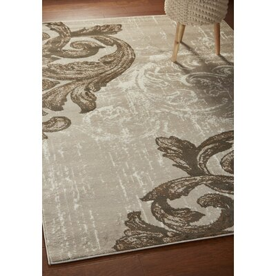 Rueben Light Beige Area Rug Rug Size: Rectangle 52 x 72