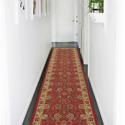 Ryan Dark Red Area Rug