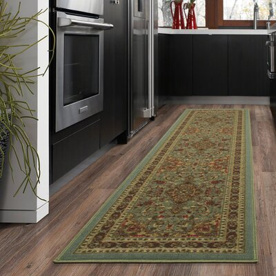Ryan Sage Green Area Rug Rug Size: Rectangle 18 x 411