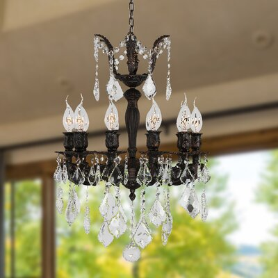 Dodson 10-Light Chain Crystal Chandelier Size: 24 H x 17 W