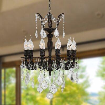 Dodson 10-Light Chain Crystal Chandelier Size: 24 H x 17 W