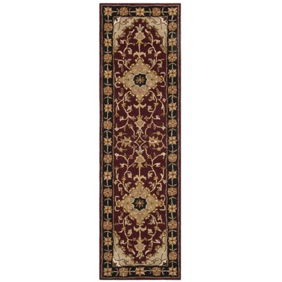 Balthrop Red/Black Area Rug Rug Size: Runner 23 x 6