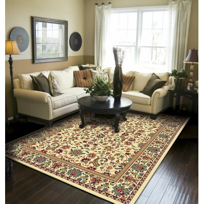 Kuhn Western Style Cream Ivory Indoor/Outdoor Area Rug Rug Size: Runner 2 x 8