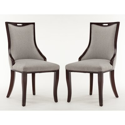 Crawfordville Leatherette Upholstered Dining Chair Upholstery: Twill Weave