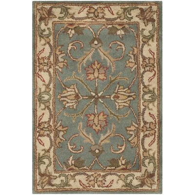 Taylor Hand-Tufted Wool Blue/Beige Area Rug Rug Size: Rectangle 2 x 3