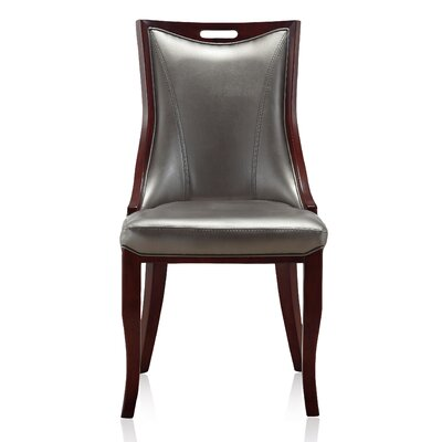Crawfordville Leatherette Upholstered Dining Chair Upholstery: Silver