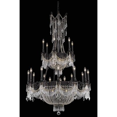 Ursula 27-Light Chain Crystal Chandelier Crystal Grade: Elegant Cut