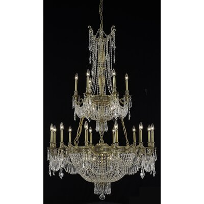 Ursula 27-Light Crystal Chandelier Color: Antique Bronze, Crystal Trim: Spectra Swarovski