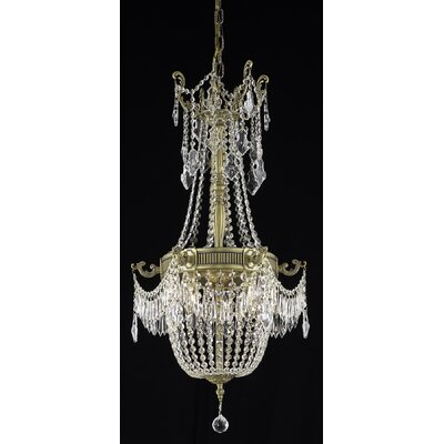 Ursula 6-Light Crystal Chandelier Color: French Gold, Crystal Trim: Spectra Swarovski