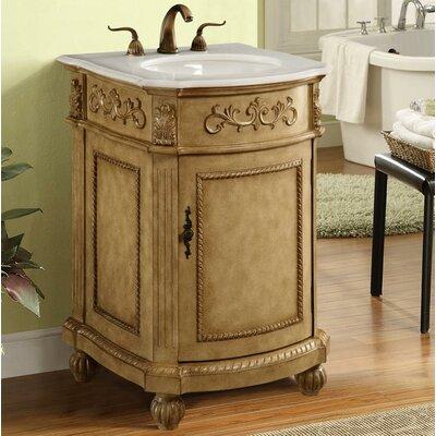 Ambudkar 24 Single Bathroom Vanity Set Base Finish: Antique Beige