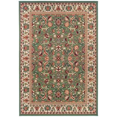 Kulick Oriental Green Indoor/Outdoor Area Rug Rug Size: Rectangle 2 x 3
