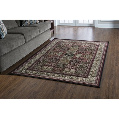 Lozoya Red Area Rug Rug Size: Rectangle 8 x 10