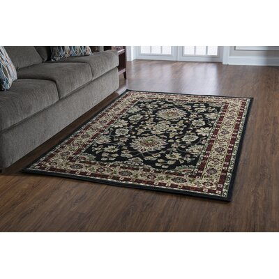 Lozoya Black Area Rug Rug Size: Rectangle 8 x 10