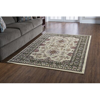 Lozoya Cream Area Rug Rug Size: Rectangle 8 x 10