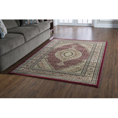 Lozoya Tabriz Red Area Rug Rug Size: Rectangle 9 x 12