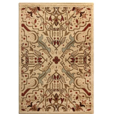 Bayliff Cream/Red Area Rug Rug Size: Rectangle 2 x 3