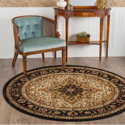 Sacha Ivory Area Rug Rug Size: Round 710