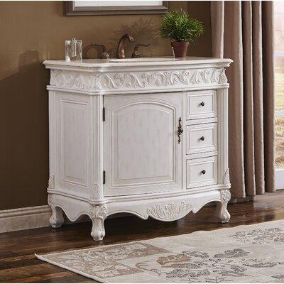 Alexis 36 Single Bathroom Vanity Set Base finish: Antique White