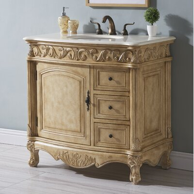 Alexis 36 Single Bathroom Vanity Set Base finish: Tan