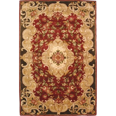 Carnasheeran Hand-Tufted Rust Area Rug Rug Size: Rectangle 6 x 9