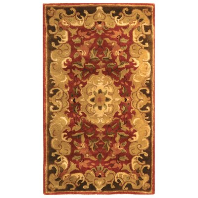 Carnasheeran Hand-Tufted Rust Area Rug Rug Size: Rectangle 23 x 4