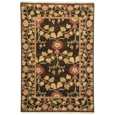 Farnhill Tree of Life Deep Charcoal Contemporary Rug Rug Size: Rectangle 6' X 6'