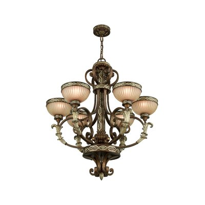 Schweizer 6-Light Shaded Chandelier