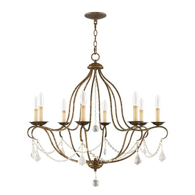 Bayfront 8-Light Crystal Chandelier Color: Venetian Golden Bronze