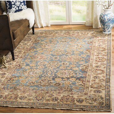 Belfield Kerman Blue/Gold Area Rug Rug Size: Runner 26 x 10