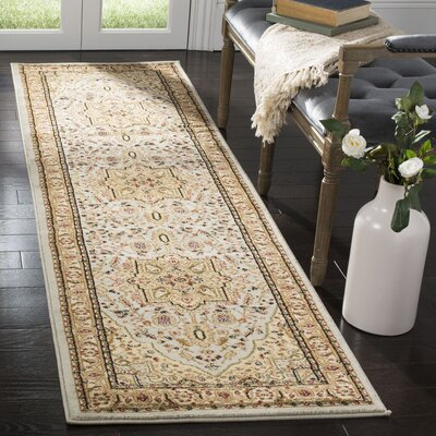 Richborough Gray/Beige Area Rug Rug Size: Runner 23 x 8