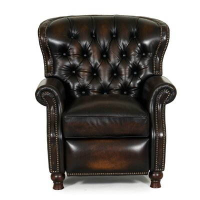 Harle Leather Recliner Type: Power