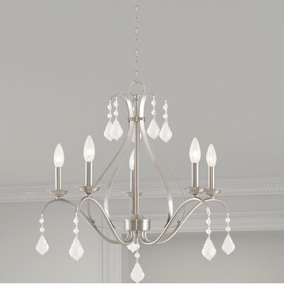 Aria 5-Light Candle-Style Chandelier Color: Brushed Nickel