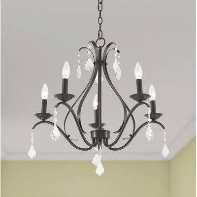 Aria 5-Light Candle-Style Chandelier Color: English Bronze
