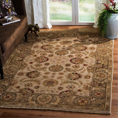 Belfield Ivory / Green Oriental Rug Rug Size: Rectangle 5 x 76