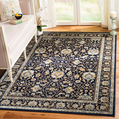 Otterburn Navy/Navy Area Rug Rug Size: Rectangle 51 x 77
