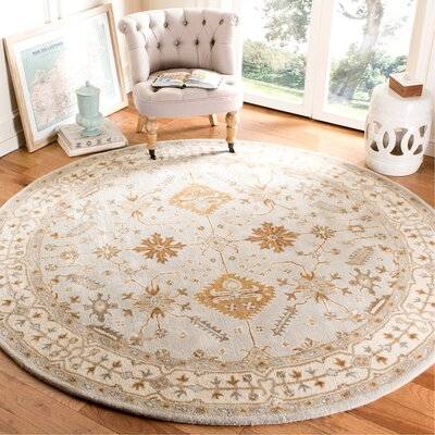 Colliers Hand-Tufted Wool Light Gray/Cream Area Rug Rug Size: Runner 23 x 7