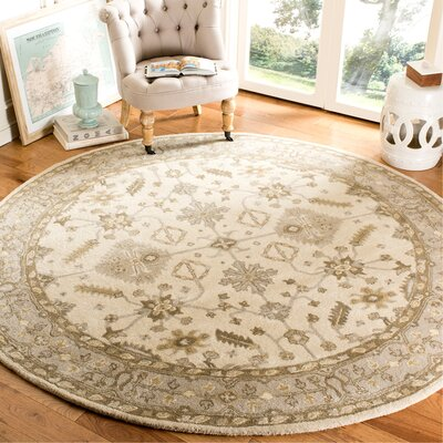 Colliers Hand-Tufted Wool Cream/Light Gray Area Rug Rug Size: Runner 23 x 7