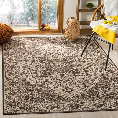 Allie Contemporary Beige/Black Area Rug Rug Size: Rectangle 3 x 5
