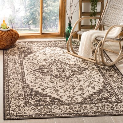 Allie Brown Area Rug Rug Size: Rectangle 3 x 5