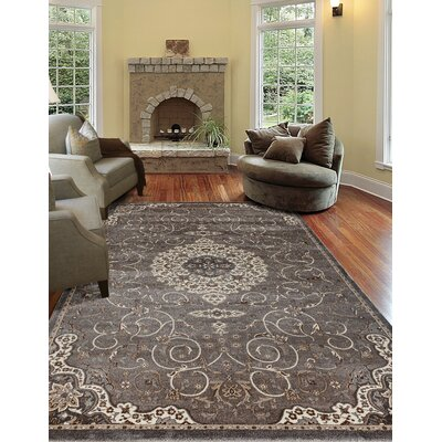 Landy Gray Area Rug Rug Size: 67 x 92