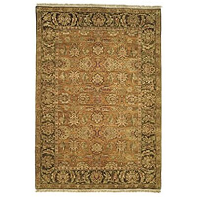 Belfield Gold/Light Green/Gold Area Rug Rug Size: Rectangle 6 x 9
