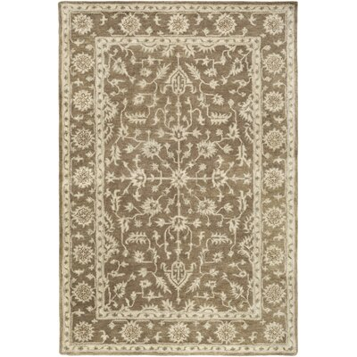 Fulham Hand-Tufted Dark Brown/Khaki Area Rug Rug size: Rectangle 6 x 9