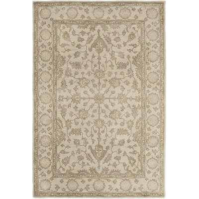 Fulham Hand-Tufted Khaki Area Rug Rug size: Rectangle 6 x 9