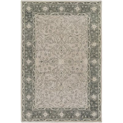 Fulham Hand-Tufted Dark Green/Khaki Area Rug Rug size: Rectangle 4 x 6