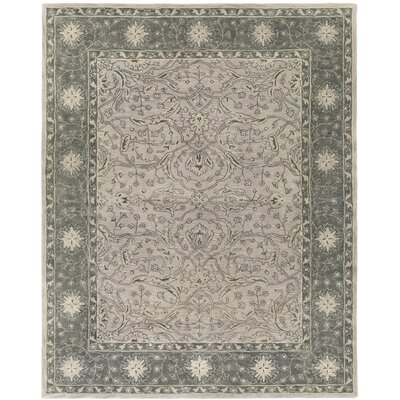 Fulham Hand-Tufted Dark Green/Khaki Area Rug Rug size: Rectangle 8 x 10